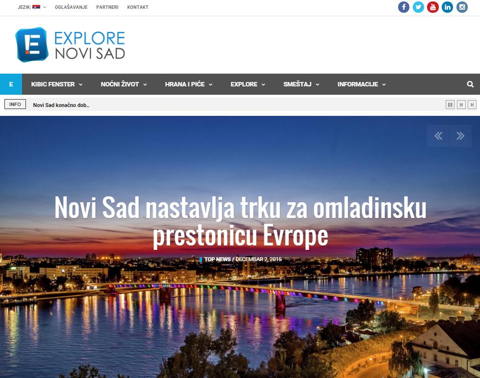 Explore Novi Sad portal