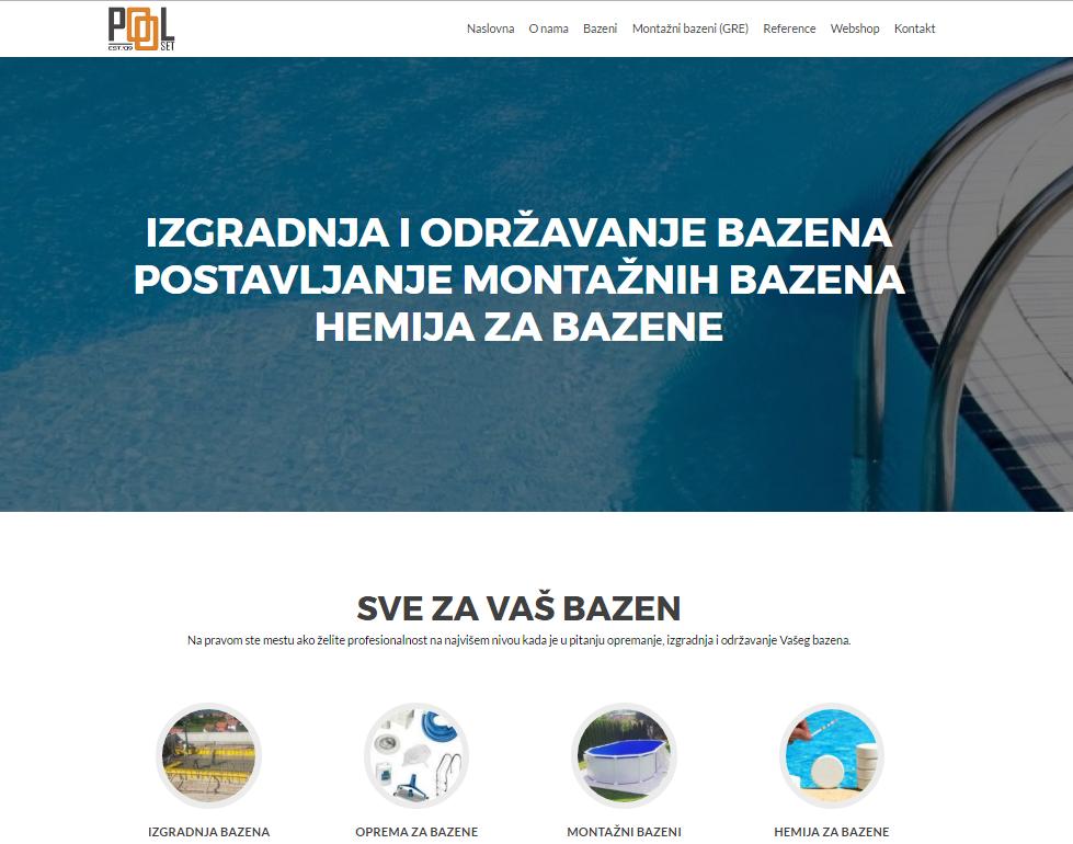 Pool equipment, Serbia